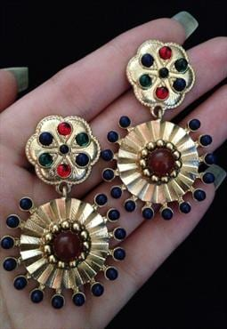 Vintage Style Baroque Jewelled Earrings