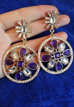 Luxury Colourful Jewelled Earrings