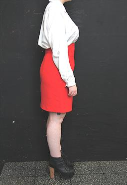 Bright Red Pencil Skirt
