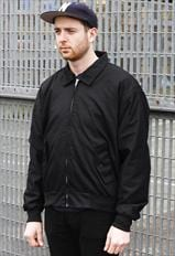 New Classic Black Harrington Zipper Bomber Jacket