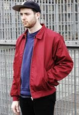 New Classic Burgundy Harrington Zipper Bomber Jacket