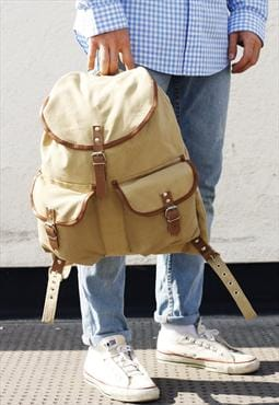 BNWT Military Style Tan Canvas Rucksack