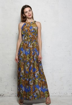 Floral Maxi Dress Vintage Style - Was £69