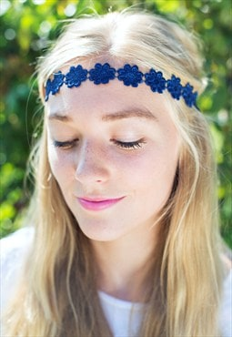 Navy Daisy Headband