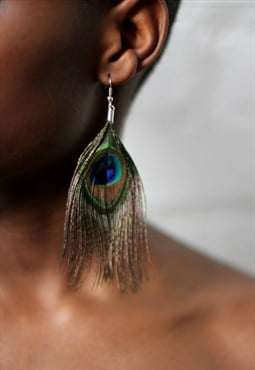 Peacock Earrings Fashion Earrings