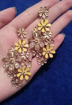 Premium Jewelled  Flower Earrings