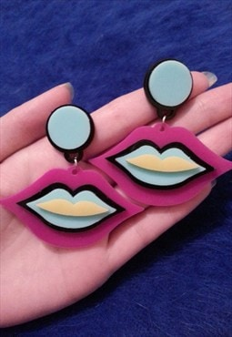 Neon LIPS Earrings