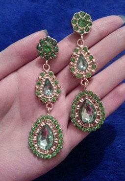 Green Jewelled Earrings