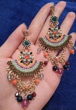 Premium Colourful Jewelled  Earrings