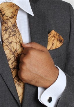 Canyon Carnival Batik Silk Tie Set