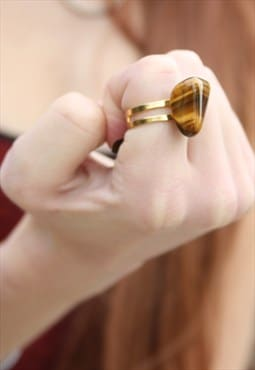 1960's Tigers Eye Nugget Ring