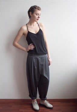 Vintage Oversized Loose Tapered Trousers