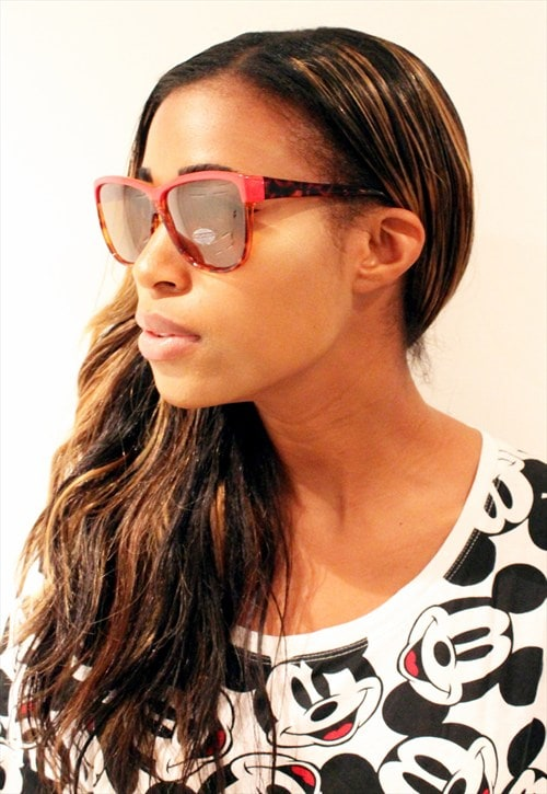 Vintage 1980's Red and Leopard Flash Frame Sunglasses