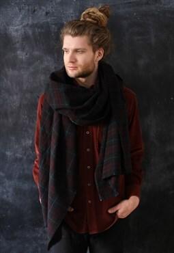 Tartan Plaid Cashmere Blanket Scarf