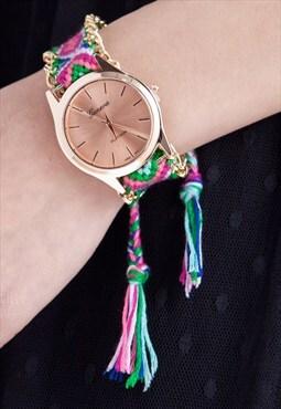 Tribal-inspired Watch - Rainbow