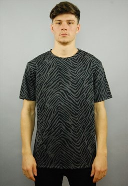 SUPERNICE Embossed Charcoal Grey T-shirt