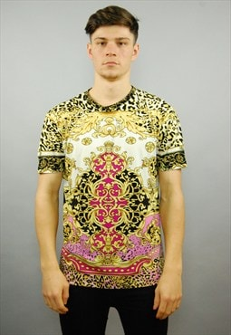 SUPERNICE 90s Inspired Baroque Print T-shirt