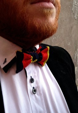 Red, Blue and Yellow Print Bow Tie