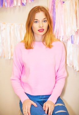 Super Soft Pastel Jumper - Hot Pink