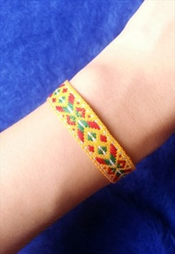 Multi Colour Embroidered Bracelet