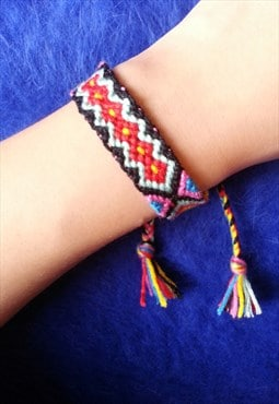 Handmade Multi Colour Knitted Bracelet