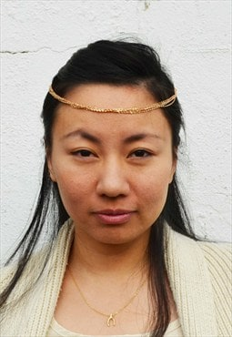 5 chain gold colour headpiece