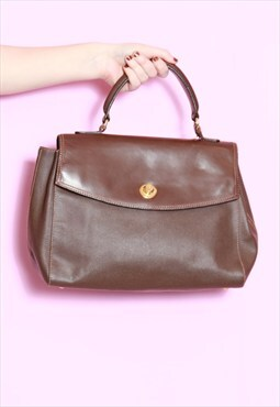 Vintage 1980's Brown Leather Satchel