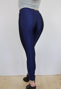 Navy blue high waisted lycra leggings
