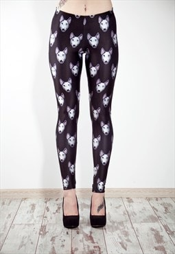 Trash Black Bull Terrier Leggings