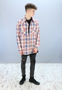 Vintage Patterned Flannel Shirt Z-879