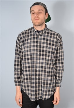 Ralph Lauren Mens Vintage Check Shirt Medium 90's