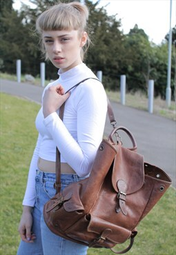 Vintage Leather Back Pack
