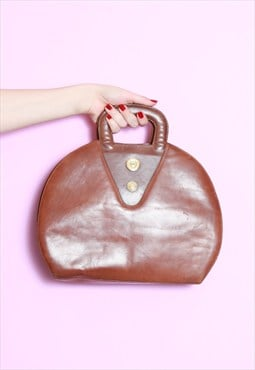 Vintage 1980's Brown Leather Bag