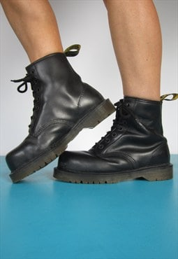 Vintage 80s Made in England Dr. Martens Black Leather Boots