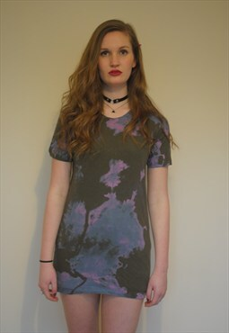 90s Grunge Tie Dye T-Shirt Dress