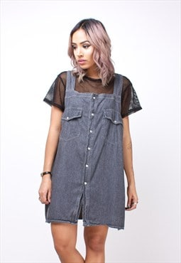 Vintage Denim Sleeveless Pinafore Dress 113APA18