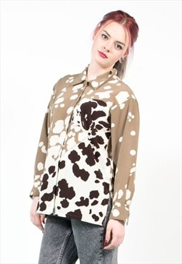 Vintage Dalmation Dog Pattern Oversize Shirt