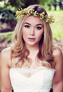 Harriet Yellow Gypsophila Headband