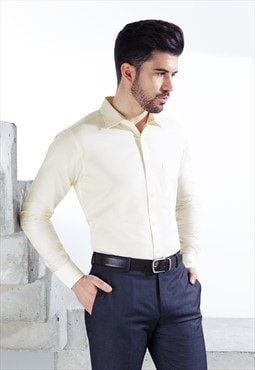 Yellow Formal Comfort Fit Shirt