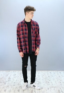 Vintage Checkered Flannel Shirt Z-365