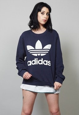 Classic Adidas 90's navy sweater
