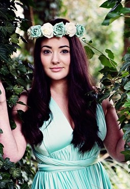 Naomi Rose Plaited Flower Crown