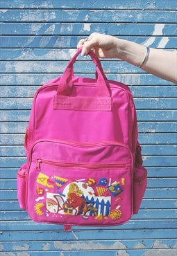 Vintage 90's Pink Barbie Rucksack
