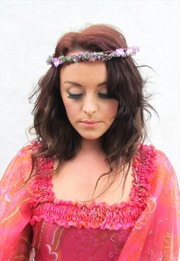 Cherry Blossom Hair Garland - Purple
