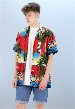 Vintage Patterned Hawaiian Shirt Z-141