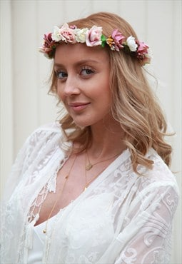 Floral handmade headpiece