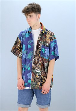 Vintage Patterned Shirt Z-241