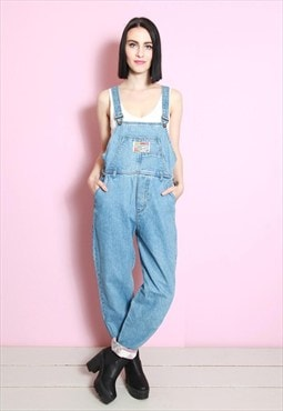 Vintage 1990's Long Denim Dungarees
