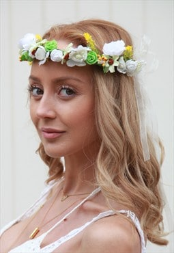 Floral handmade headpiece, halo