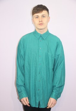 Vintage green patterned Shirt